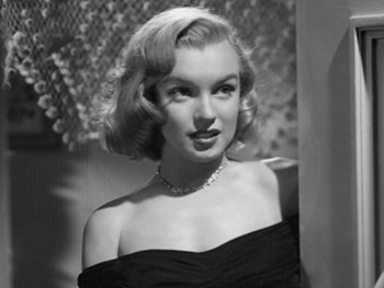 "Said Huston of Marilyn: ""She had no techniques. It was all the truth, it was only Marilyn."" (He later directed her in ""The Misfits."")"