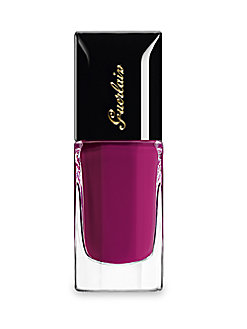 Try pairing a half-moon manicure in this sumptuous shade with nude polish on the toenails.