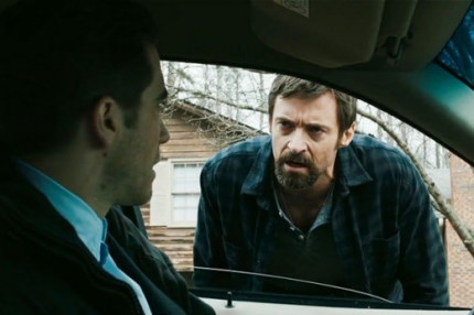 "Jake Gyllenhaal and Hugh Jackman star in ""Prisoners."""