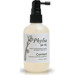 Phylia de M, a hair restorer/thickener, is receiving rave reviews.