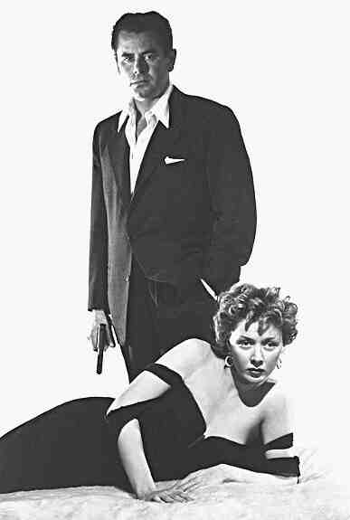"Glenn Ford and Gloria Grahame star in ""The Big Heat."""