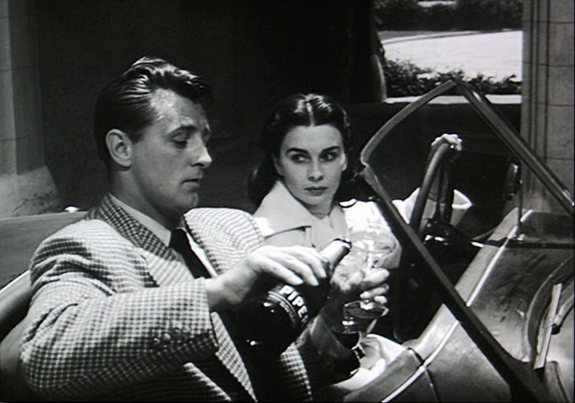 "Robert Mitchum and Jean Simmons star in ""Angel Face."""