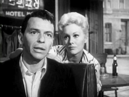 """The Man with the Golden Arm,"" starring Frank Sinatra and Kim Novak, plays at 5."