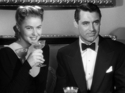 "The incomparable Edith Head dressed Ingrid Bergman and Cary Grant in ""Notorious."""