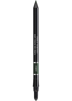 Merle Norman's Soft Touch waterproof eye pencil is smooth and creamy but stays put. You can use it to line or as a full-on shadow. A built-in smudger makes it easy to define and blend. Jaded is a subtle khaki green that you can wear every day, not just on March 17.