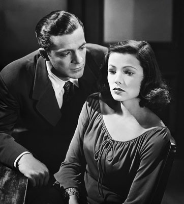 "Dana Andrews and Gene Tierney star in ""Laura"" and ""Where the Sidewalk Ends."""