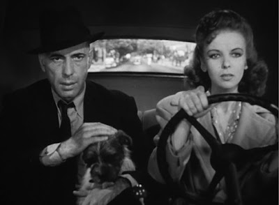 "Bogart and Ida Lupino star in ""High Sierra."""