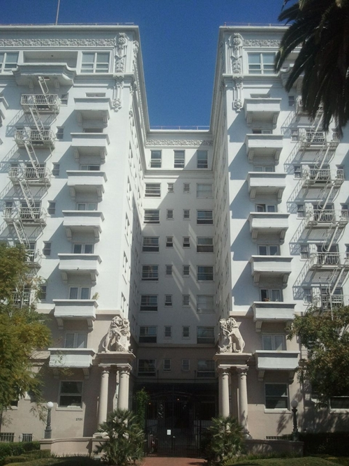 "The Bryson apartments, home to Walter Neff in ""Double Indemnity."""