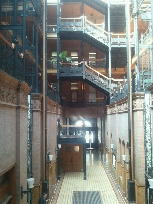 The Bradbury building,  304 Broadway, was built in 1893.