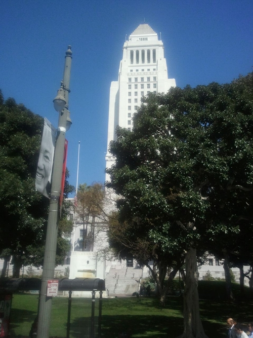 Los Angeles city hall, downtown