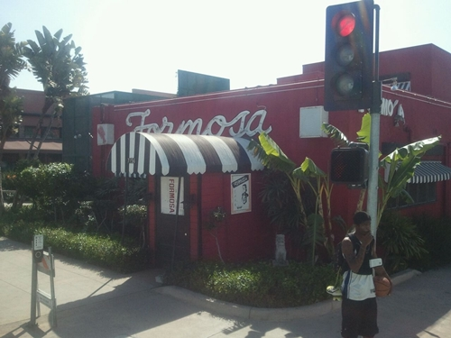 Formosa Cafe was and is a popular hangout. It was founded in 1925 by prize-fighter Jimmy Bernstein.