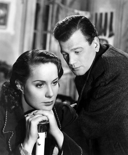 "Alida Valli and Joseph Cotten star in ""The Third Man."""