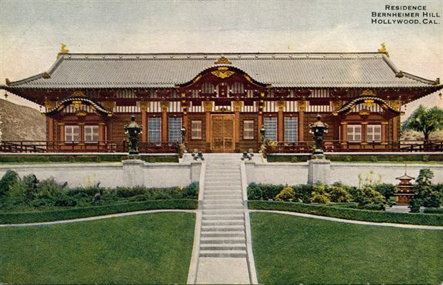 The Bernheimer brothers began building the hilltop mansion in 1911. The residence was completed in 1914.