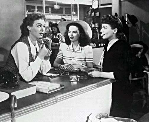"""Mildred Pierce"" has an outstanding cast, including Eve Arden (left), Ann Blyth and, of course, the divine Ms. Crawford."
