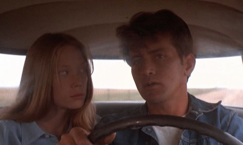 Kit and Holly are played by Martin Sheen and Sissy Spacek, the first lead roles for either of them.