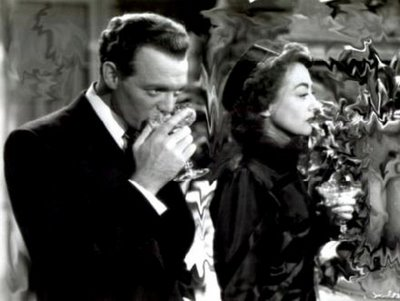 "Van Heflin is immune to Joan Crawford's charm in ""Possessed."" What nerve!"