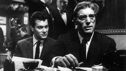 "Tony Curtis and Burt Lancaster star in ""Sweet Smell of Success."""