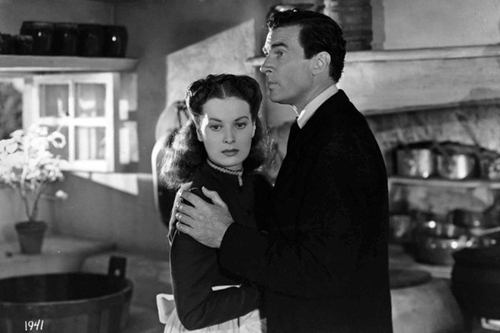 "Maureen O'Hara and Walter Pidgeon star in ""How Green Was My Valley."""