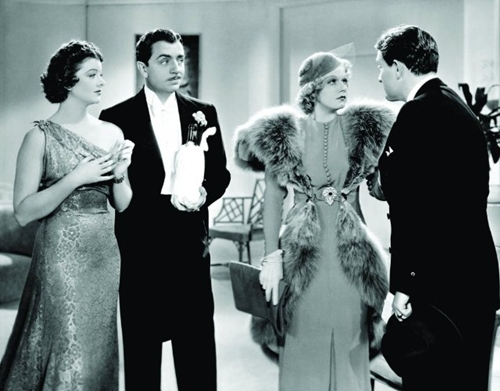 "Myrna Loy, William Powell, Jean Harlow and Spencer Tracy in ""Libeled Lady."""