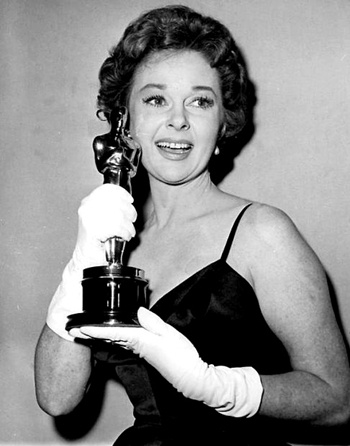 Susan Hayward with her Oscar.
