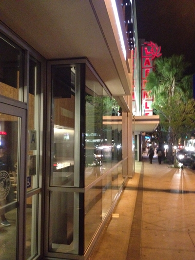 The Laemmle NoHo 7 at night