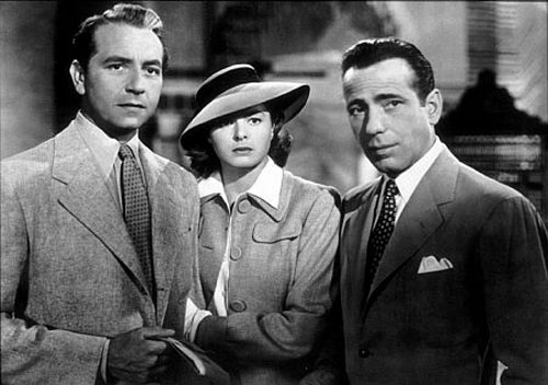 "The classic trio of ""Casablanca."""