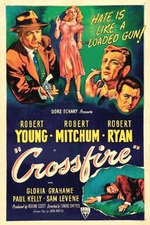 """Crossfire"" was the film that put Robert Ryan on the map."
