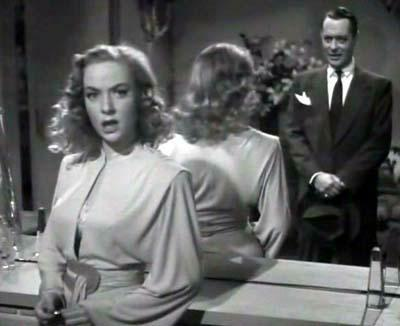 "Audrey Totter plays an editor in ""Lady in the Lake."" Make sure your copy is clean, Marlowe!"