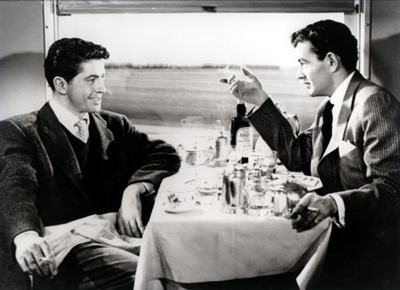 "Farley Granger and Robert Walker have a wonderful weird chemistry in ""Strangers on a Train."""