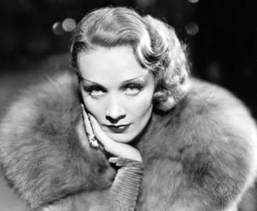 The always-ravishing always-entertaining Marlene Dietrich.